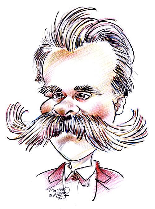 caricatura de friedrich nietzsche