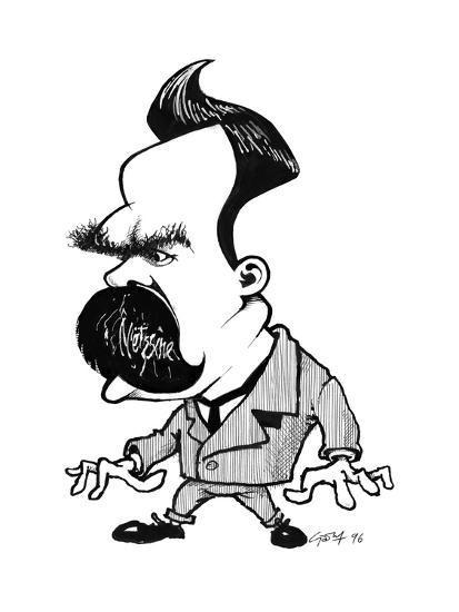 friedrich nietzsche caricatura