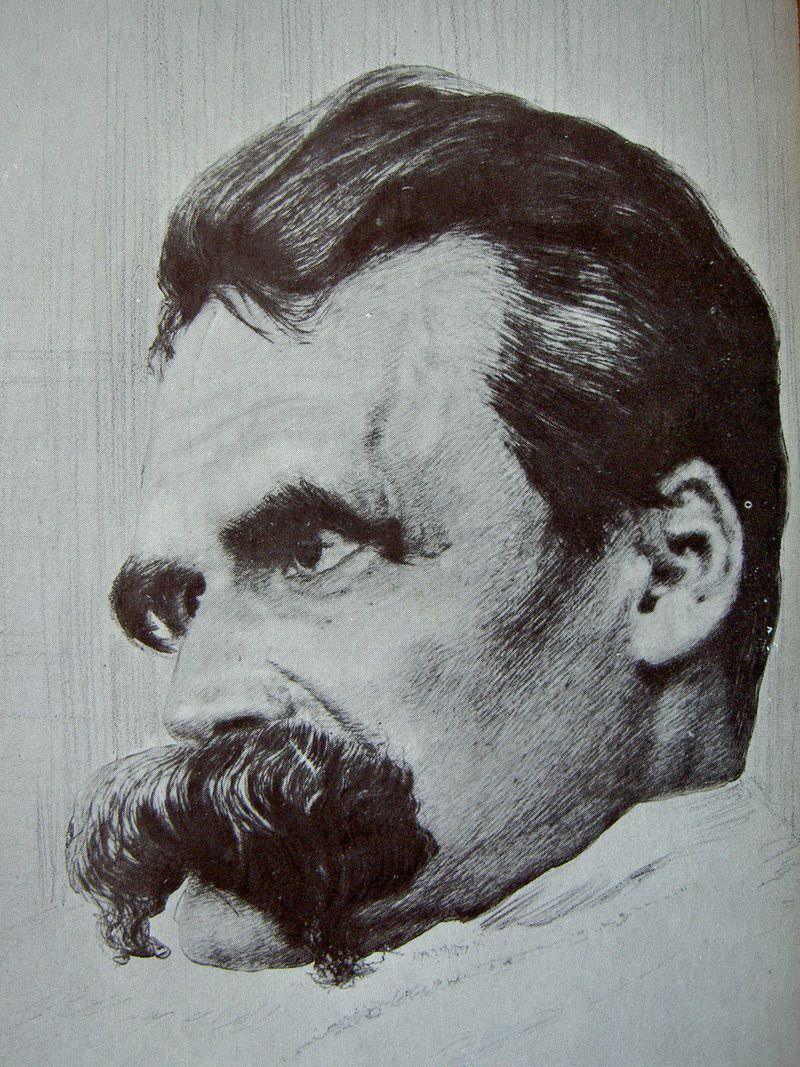 retrato de friedrich nietzsche por hans olde